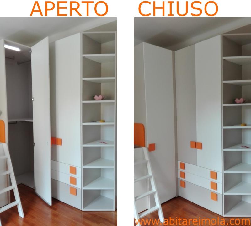 Camerette letto container dielle mobilificio abitare imola - Armadio con angolo cabina ...