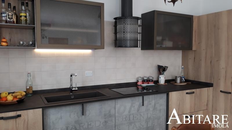 arredare casa imola bologna faenza castel bolognese cucina cucine snaidero loft industriale piano induzione lavello fragranite blanco luci led