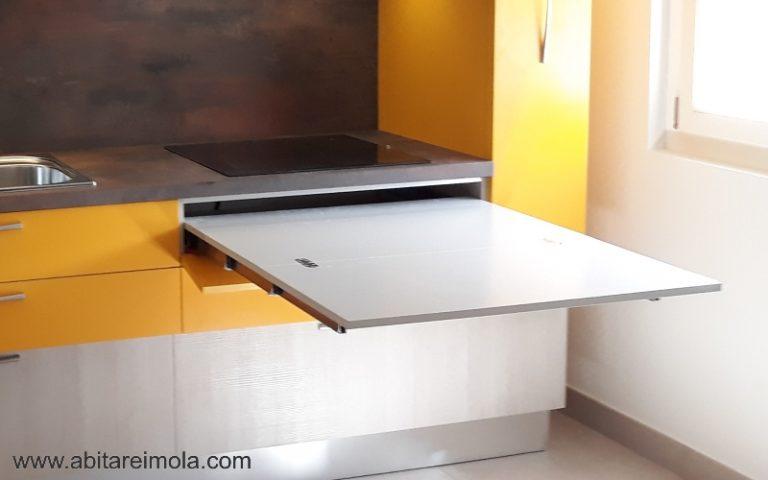 cucina-elle75-moderna-componibile-lavello-foster-piano-hpl-tavolo estraibile arredare-casa-cucine-design-interni-arredare-imola-bologna-medicina-castenaso-reda-faenza