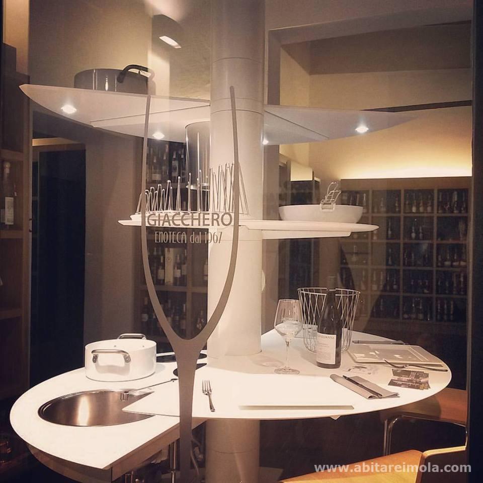 cucina isola tonda design bianca salvaspazio treestyle kitchen oikos imola bologna