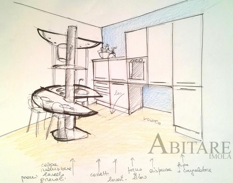 progetto cucina disabile treestyle centrostanza handicap kitchen arredamento mobilificio bologna budrio medicina castenaso imola