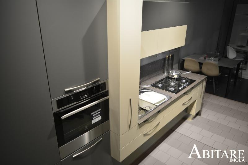 elle75 cucina capiente effetto pietra antracite cucine arredamento faenza reda lugo bagnara dispensa estraibile laminato opaco cucine arredare casa